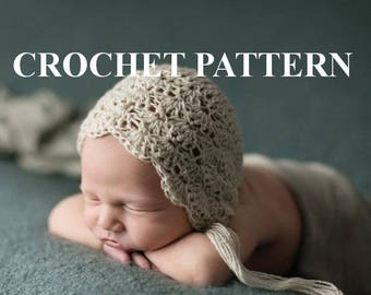 CROCHET PATTERN - Shell Baby Bonnet