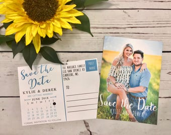Front and Back Photo Save the Date