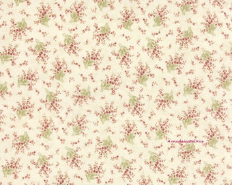 Cottage Chic Fabric, 3 Sisters Favorites Moda 3707 11 China White, Shabby Chic Floral Fabric, Pink Floral Fabric, Cottage Chic Fabric