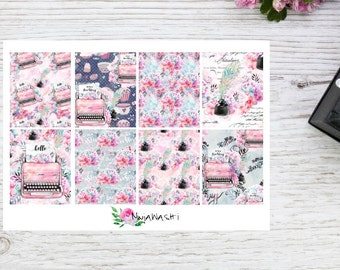 Planner stickers full EC boxes vintage typewriter