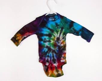 Tie Dye Newborn Long Sleeve Onesie 100% Cotton