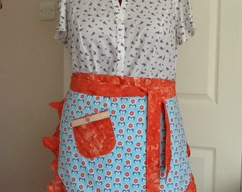 SALE..Half apron/ retro style,fully lined