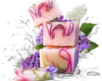 Lilac and Clove Handmade Glycerin Soap