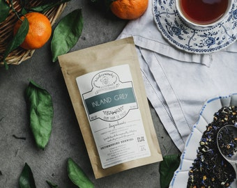 Inland Grey Tea | Earl Grey Black Tea | ORGANIC | Winterwoods Tea Company Loose Leaf Blend