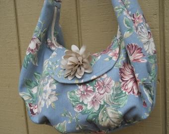 Original Denim Floral Shoulder Bag by Attitude Design