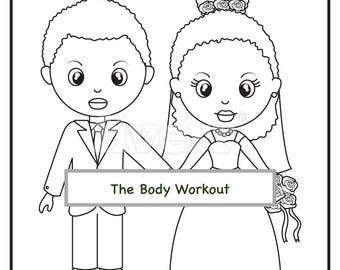 african american wedding coloring book for children kids coloring pages wedding activity book coloring pages wedding bridal shower games