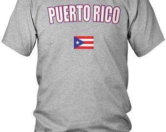 Puerto Rican Men's T-Shirt, PR Flag, Puerto Rico Pride, Men's Puerto Rico Soccer Shirts AMD_PUE_08