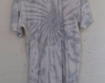 Fruit of the loom 90's grey and white tie dye T shirt - S/M