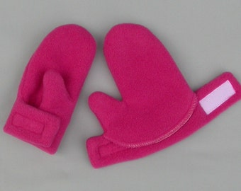 MITTENS by Baby Polar Gear - STAY ON, Warm, Polartec 200 wrap mittens - Infant or Toddler sizes - Choose a solid color!