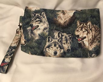 Charmed Wolf Pack Wristlet Clutch