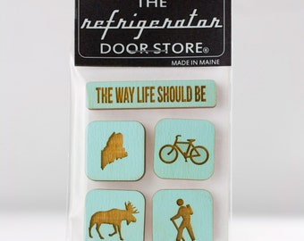Gift for friends. The Way Life Should Be. Maine Adventure. Refrigerator Magnet. Fridge Magnets. Adventure