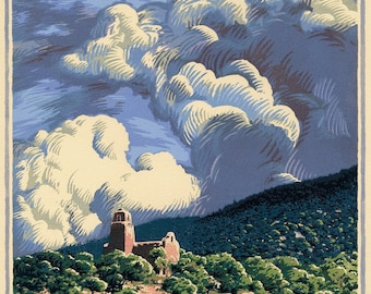 Trinchera Sky, 8 block woodcut, signed edition of 36.