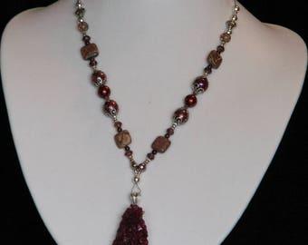 Ruby Druzy Necklace