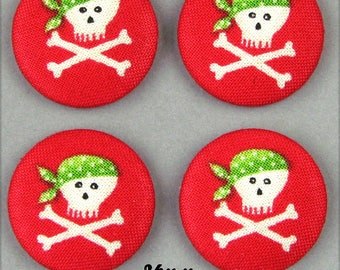 -Pirate - 26mm - (26-34) fabric covered buttons