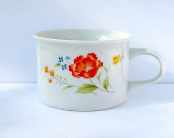 Vintage Soup Mug, Hearthside, Bake N Serve, Fine Porcelain China, Japan