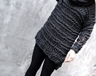 Holey Sweater - Chunky knit sweater, loose knit sweater, bulky sweater, knitted chunky sweater, knitted chunky tunic
