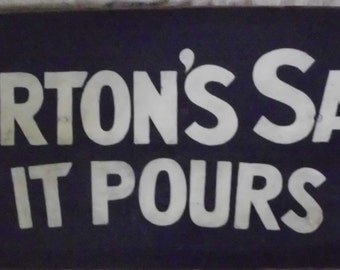 Morton's Salt primitive hand painted sign