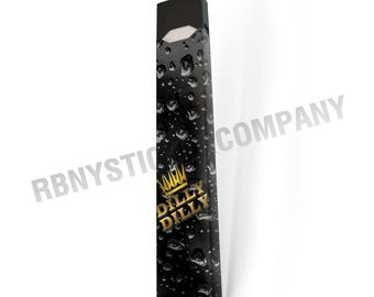 DILLY DILLY Bubbles Gold Crown JUUL Skin Decal Wrap