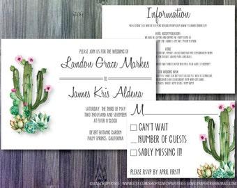 Desert Wedding Invitation | RSVP | Information Suite - Digital | WD29