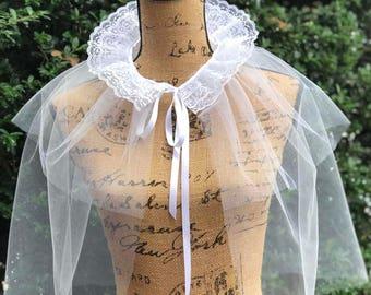 NIF Studio - wedding cape, wedding pelerine