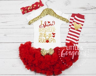Christmas Onesie, Christmas Outfit, 1st Christmas Outfit, Girls Christmas, 1st Christmas Onesie, Girls Christmas Outfit, Holiday Outfit