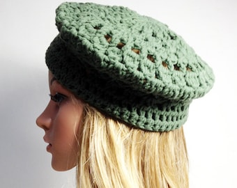 Crochet PATTERN - PARIS BERET - Crochet Hat Pattern - crochet hat pattern