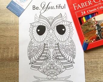 be.uti.ful owl