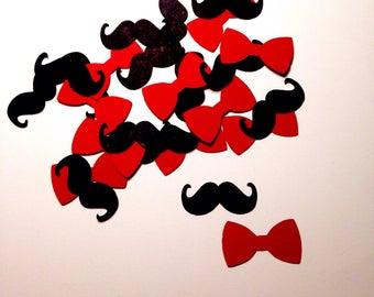 Baby shower confetti, Boy Baby Shower, Mustache confetti, Bow tie confetti, Baby boy confetti, Mustache Baby Shower, Baby Shower Decorations