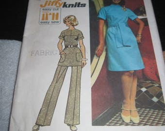 Vintage SIMPLICITY Pattern #5557.. sz.10....dress,tunic & pants....1970's....#51....