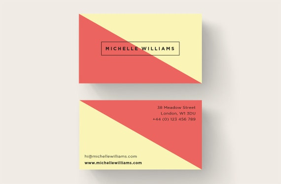 Simple business card design printable business card premade reheart Choice Image