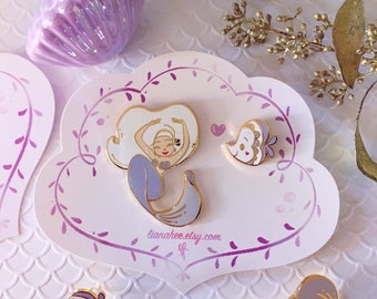 LIMITED EDITION Lavender Mini Mermie Pin Set