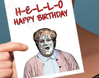 Friend Birthday Card | Mrs Doubtfire | Robin Williams Morning Vietnam First Birthday Girlfriend Birthday Boyfriend Card Card For Girlfriend