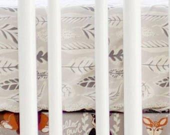 Woodland Oh Hello Fog Crib Baby Bedding   Crib Sheet