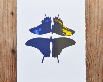 Ghost Wings Dusk Butterfly, Limited Edition Print, Printmaking, Wall Art, Screenprint