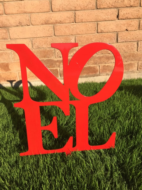 noel sign 16 metal yard art christmas lawn decor outdoor. Black Bedroom Furniture Sets. Home Design Ideas