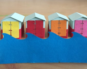 Beach Hut, 28mm Miniature, Beach house decor, Coastal decor, Miniature Artwork, Cute, Home Decor, Housewarming gift, Handmade, England