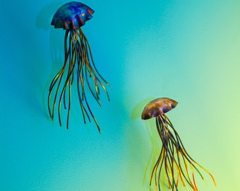 UpCycled Copper Jelly Fish Wall Decor