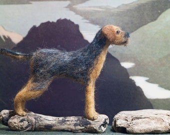 Border Terrier - Needle Felted, One Of A Kind, Hand Made