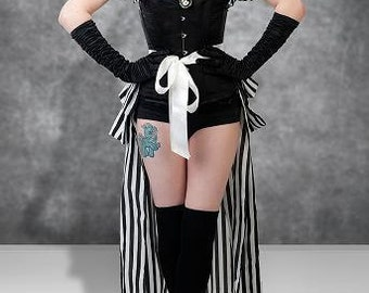 Halloween  Long Burlesque   PIRATE ROMANCE  Bustle STEAMPUNK By Gothic Burlesque