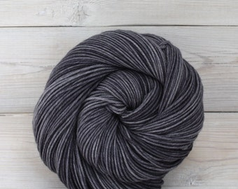 Aspen Sport - Hand Dyed Superwash Merino Wool Sport Yarn - Colorway: Charcoal