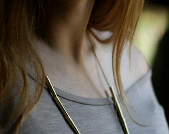 Minimalist's Basic Brass Cone Necklace