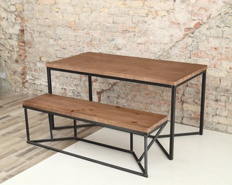 industrial dining furniture. Solid Industrial Dining Table Furniture