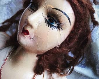 Antique flapper 1920s 1930s boudoir doll bed doll Art Deco antique doll original dress
