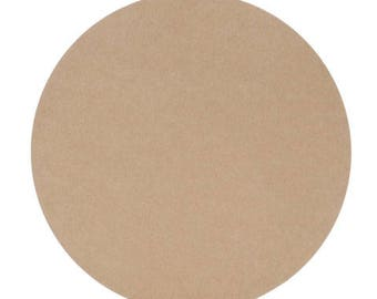 "6 - MDF Circles Shapes 5"" - 8"" Diameter 1/4"" - 3/4"" Thick Custom Size Made to Order in USA"