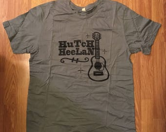 MENS XL T-SHIRT Hutch Heelan Guitar