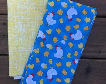 Old McDonald Had a Farm - Reversible Tie On Farm Bandana for Pets/Dogs/Cats