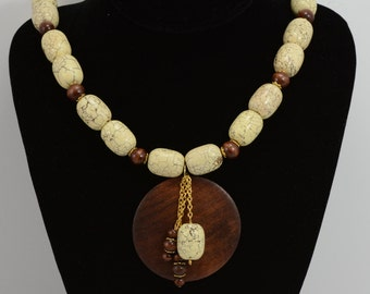 Yellow Turquoise Beaded Necklace