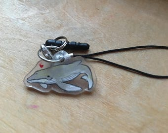 Little Gray Whale Cellphone Charm