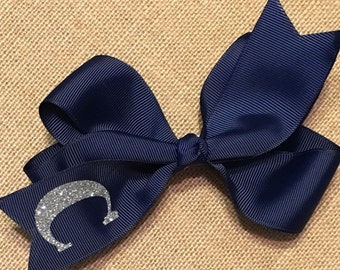 Beautiful Hair Bow with Letter or Monogram