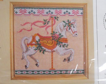 Destash Cross Stitch Kit  Carousel Horse Merry Go Round Creative Circle New, Unopened
